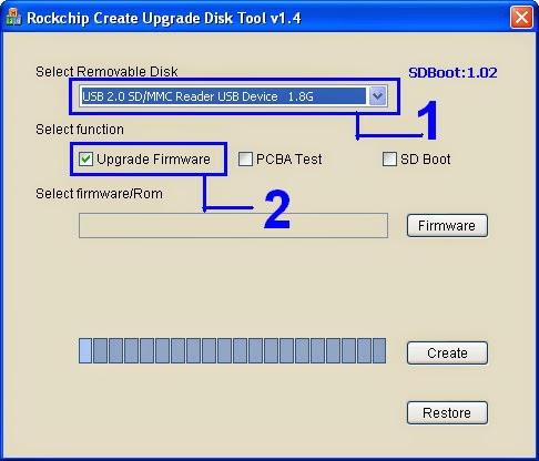Программа для прошивки устройств Rockchip через SD карту